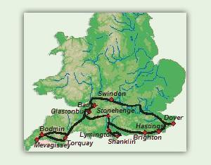 steinkreise irland karte 7 Tage Suedengland mit Isle of Wight   Rundreisen